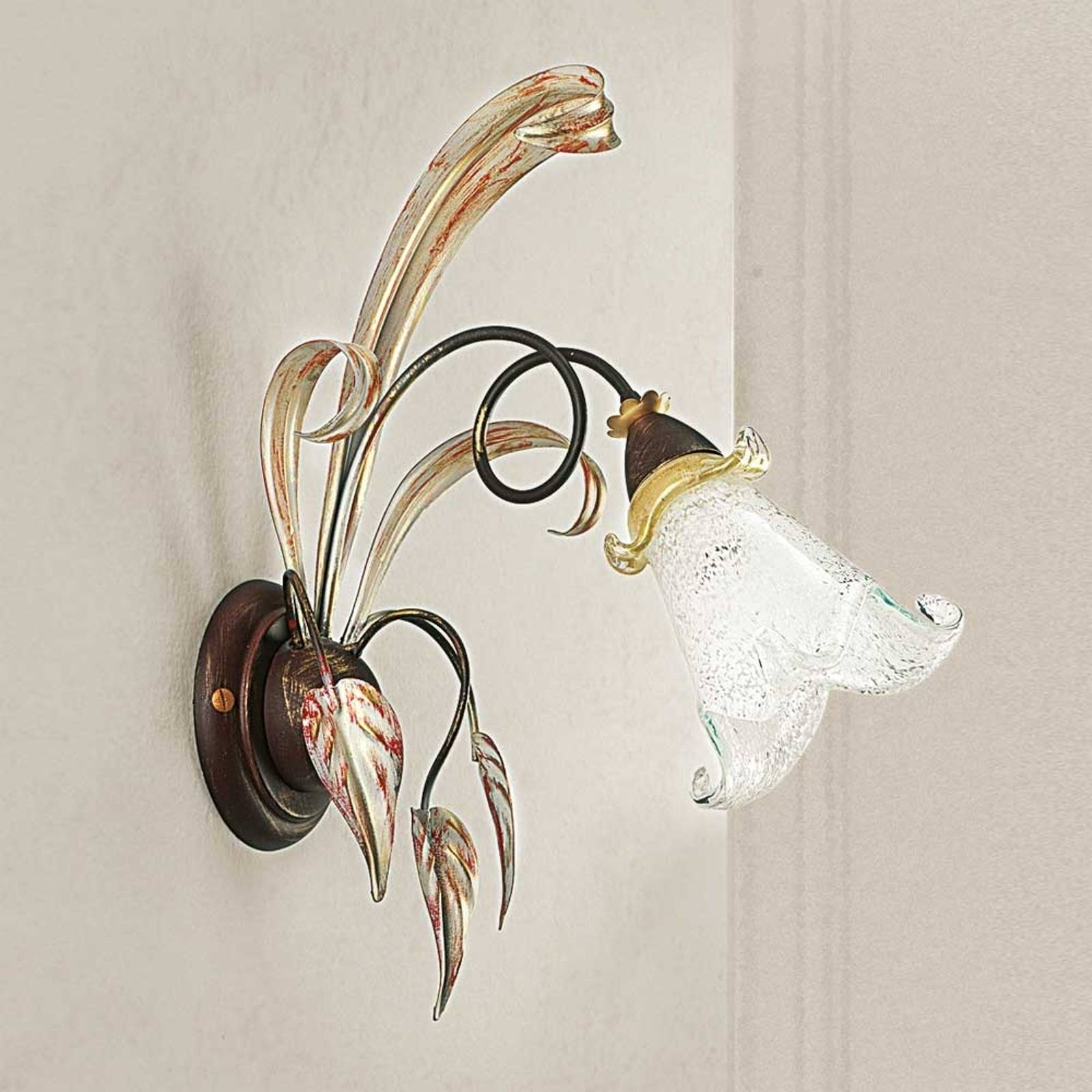 Floral wall light Giuseppe from Lam