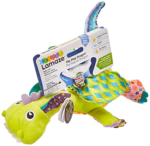Lamaze Flip Flap Dragon - Clip On Pram and Pushchair Newborn Baby Toy - Suitable from Birth from LAMAZE