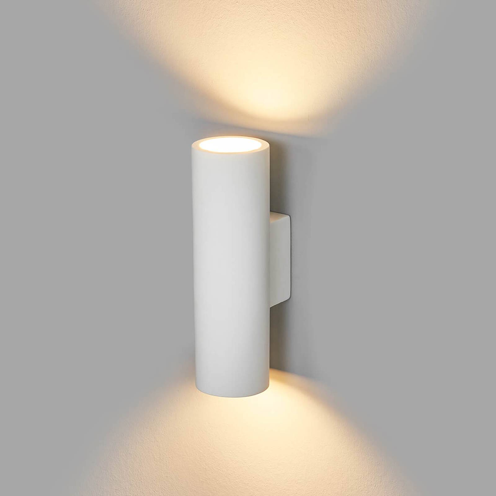 2-bulb plaster wall lamp Norwin from Lindby