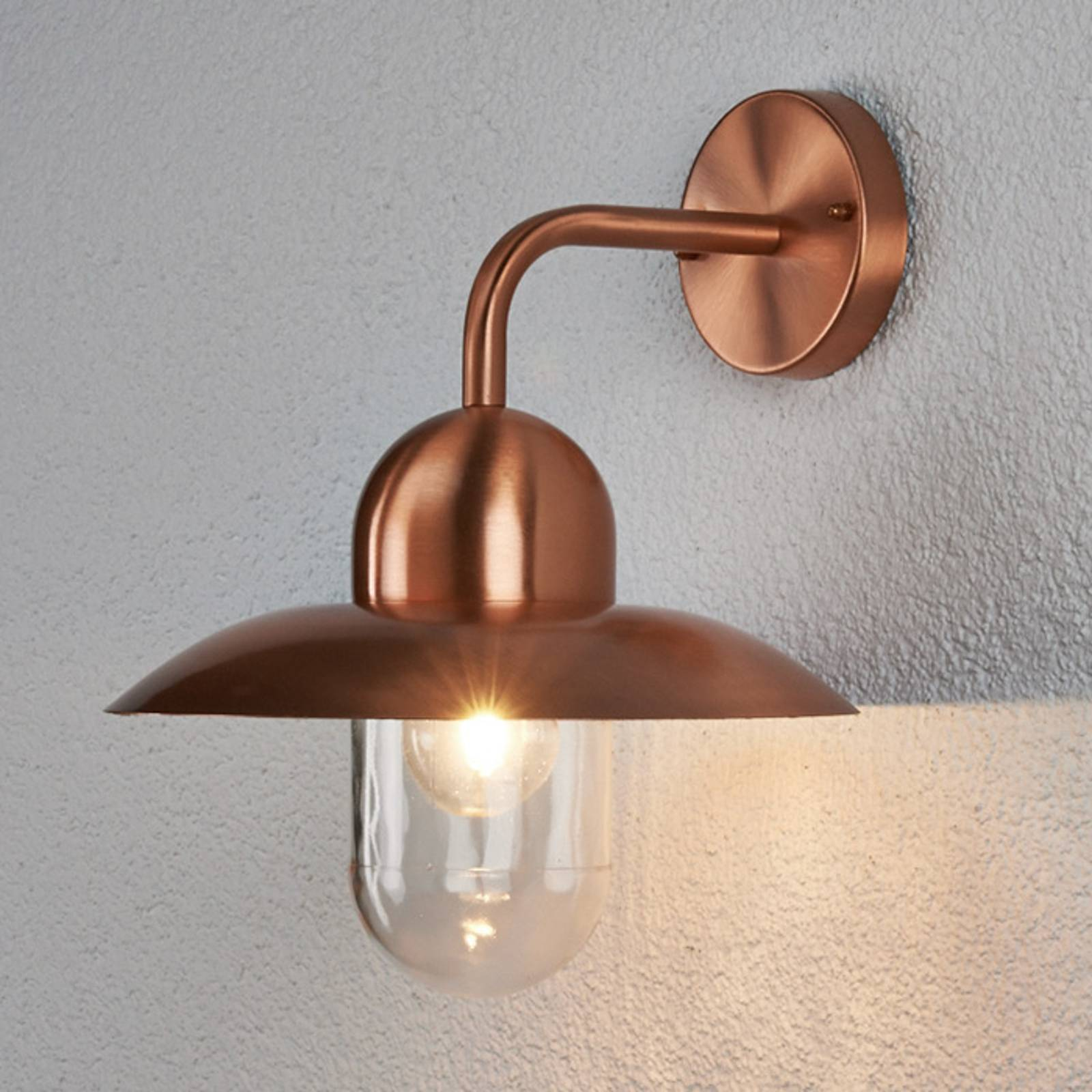 Camila wall light for outdoors, copper-coloured from Lindby