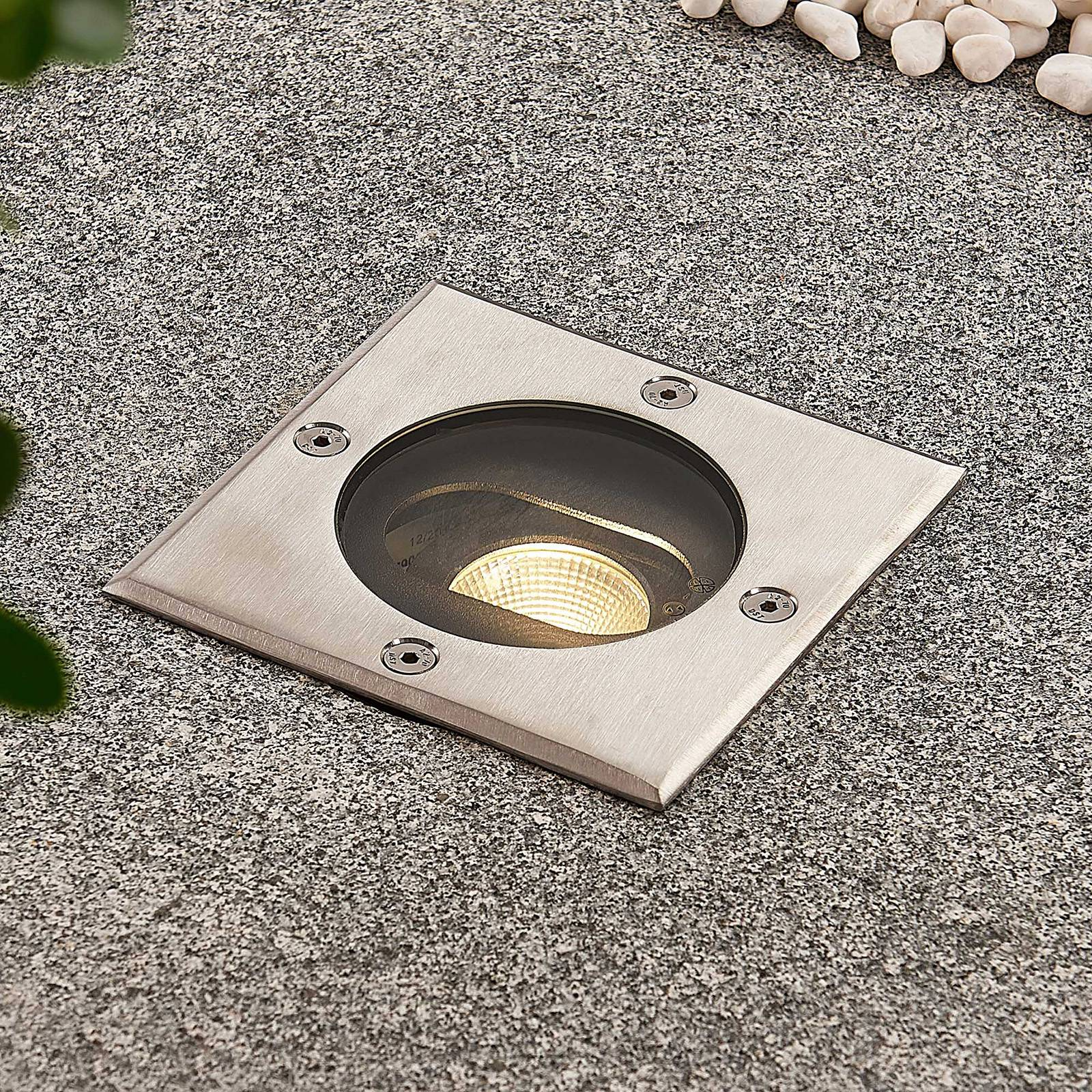 Doris - angular LED recessed floor light from Lucande