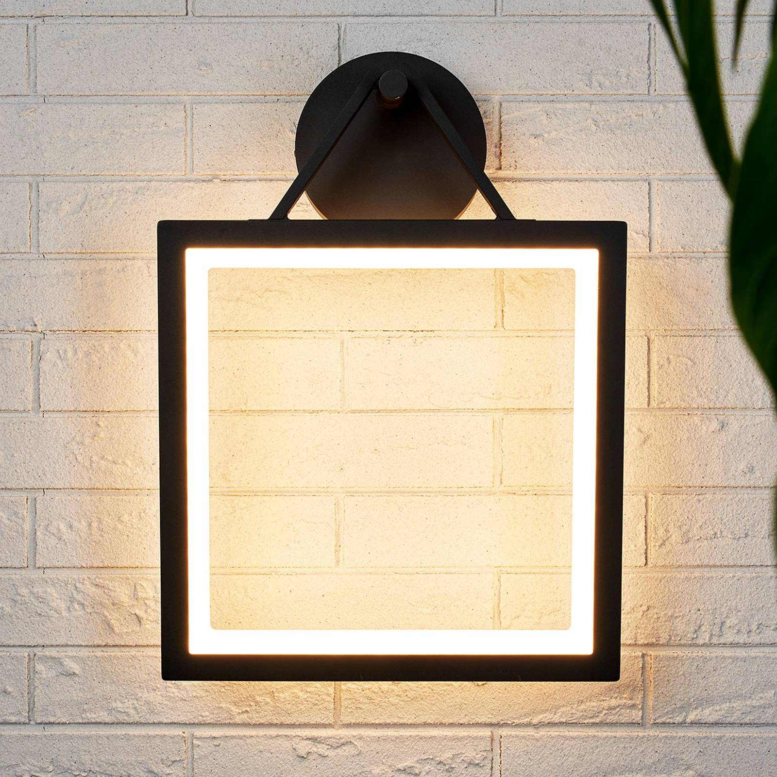 Frame-shaped LED outdoor wall lamp Mirco from Lucande