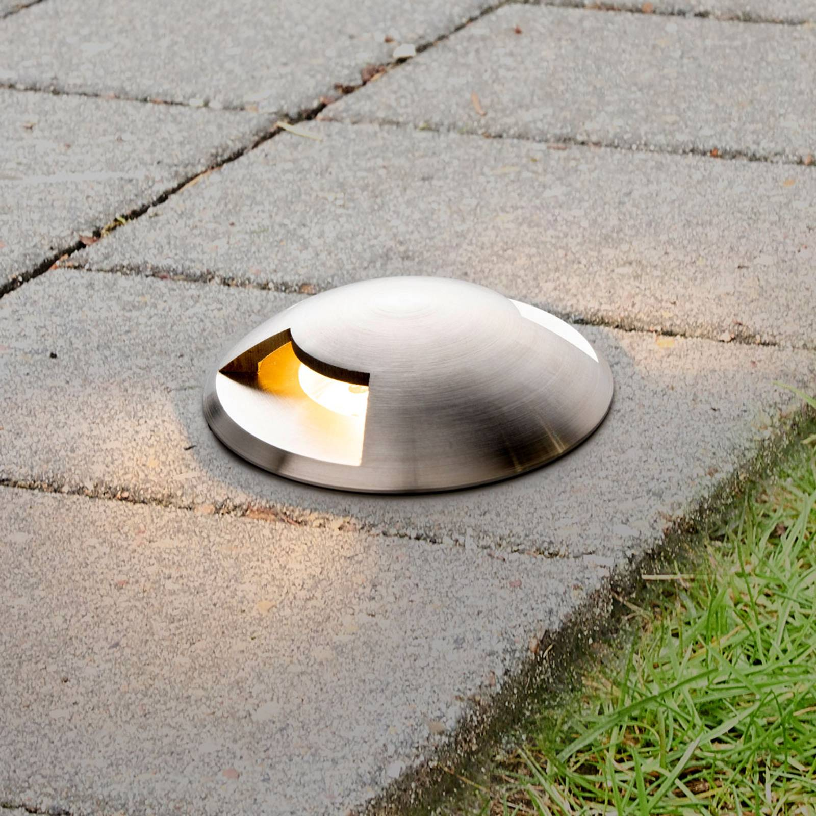 Helene recessed floor light for outdoors with LEDs from Lucande