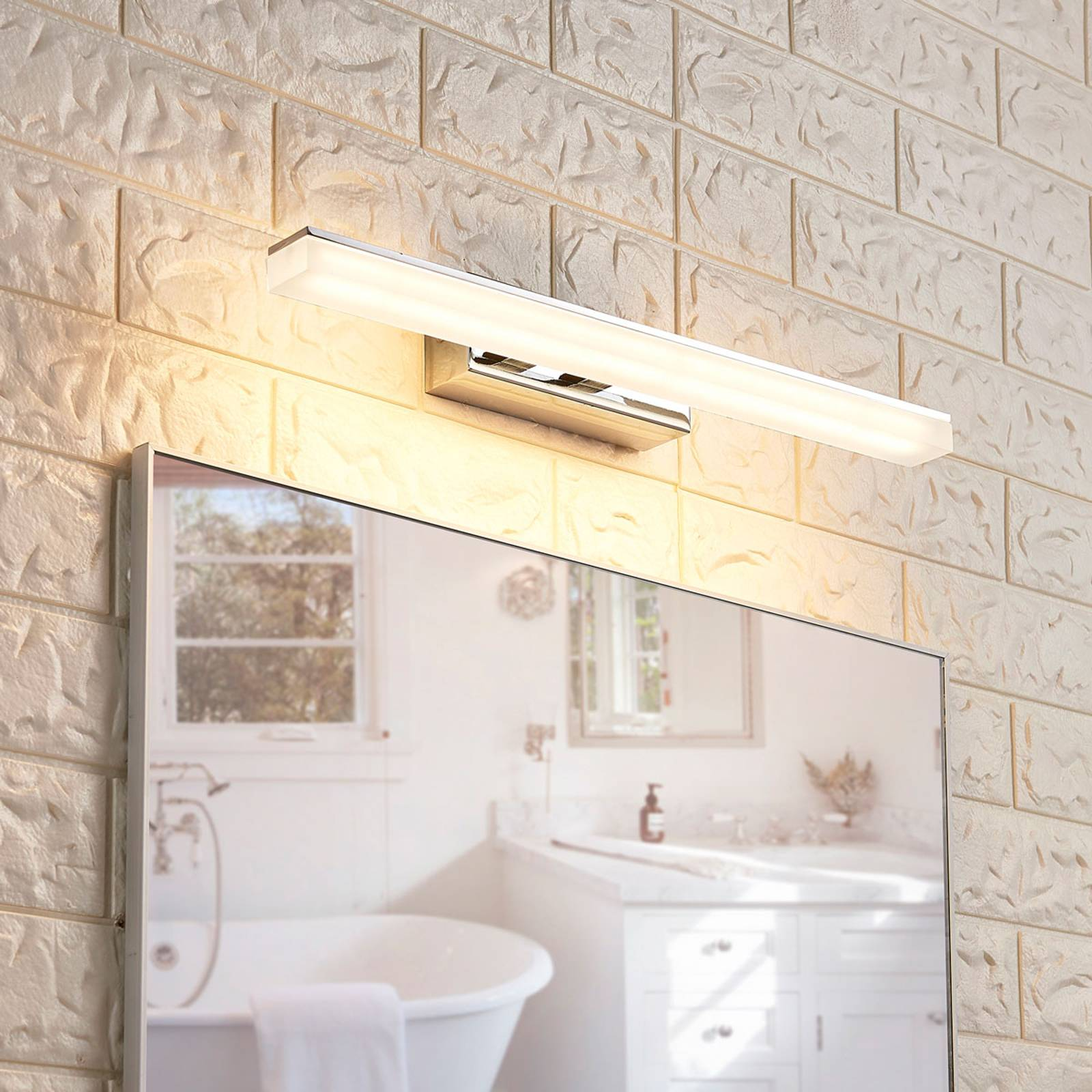 Julie - long LED bathroom wall lamp from Lucande