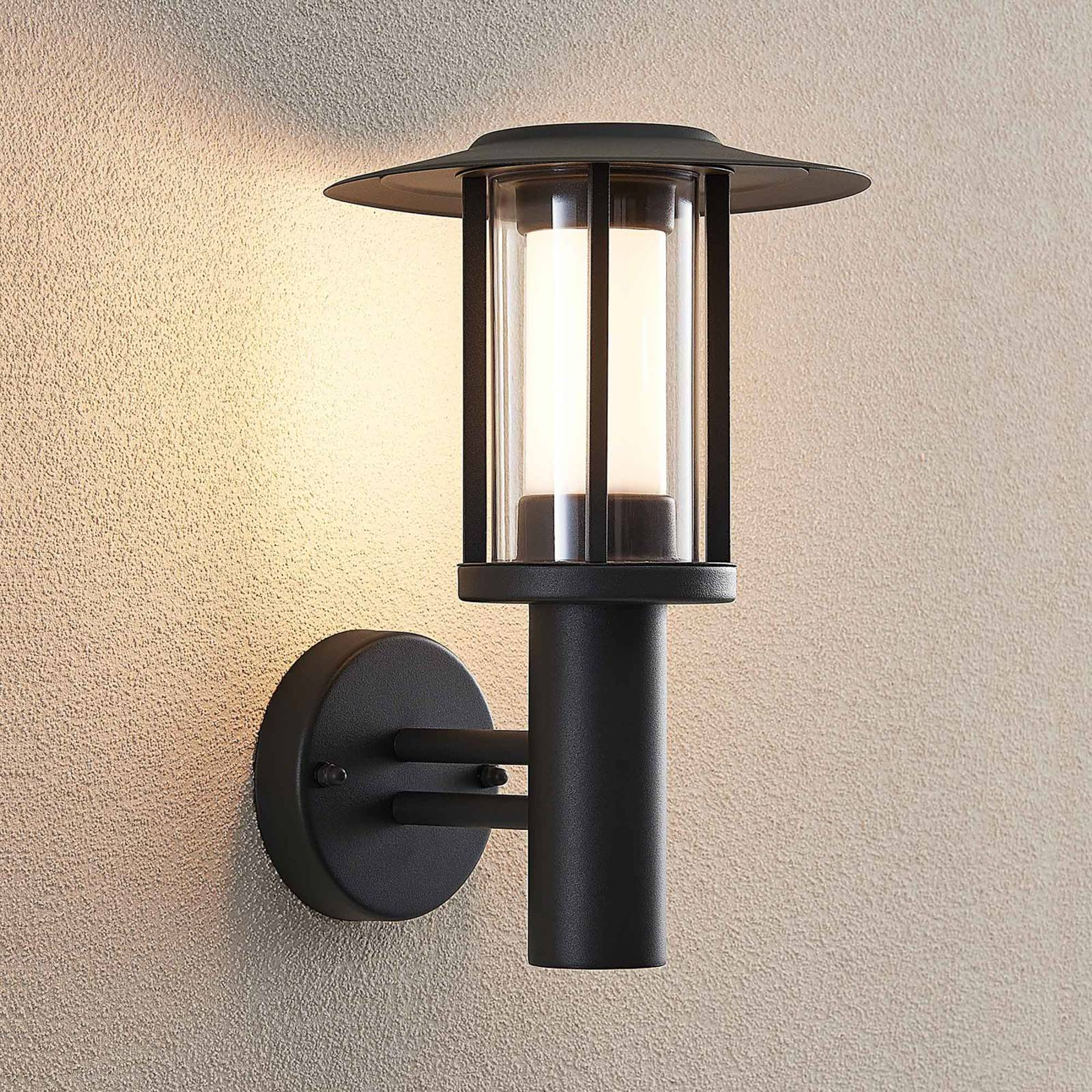 LED outdoor wall lamp Gregory grey from Lindby