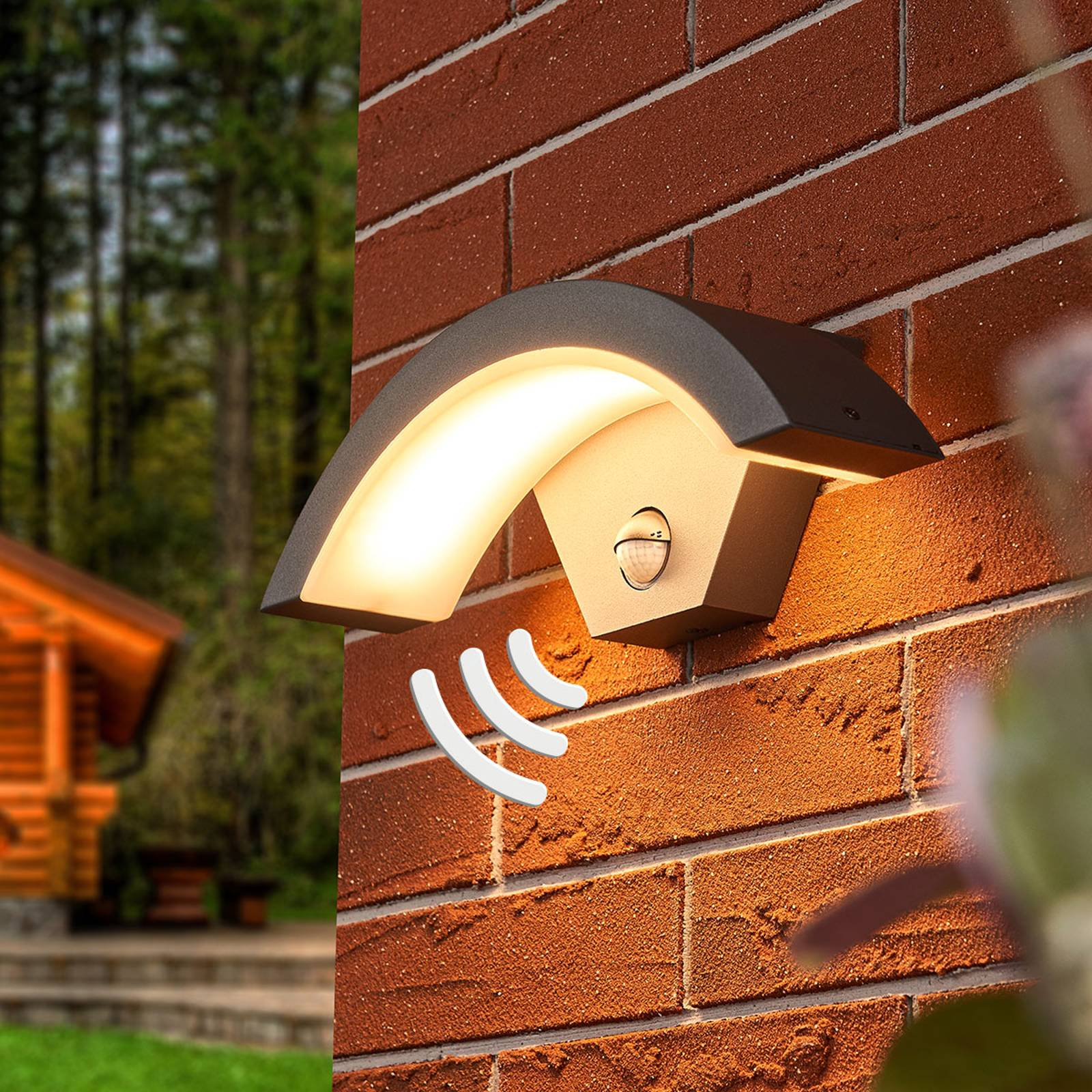 Sensor LED outdoor wall lamp Jule from Lampenwelt.com