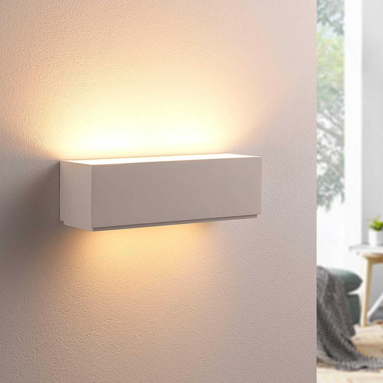 Simple plaster wall lamp Benno, G9 LED from Lindby