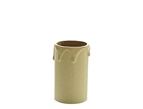 Lamps and Lights 2 1/4 inch Candle Tube with Drips - Ivory - 60mm BC from Lamps and Lights