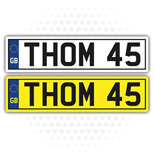 2 X KIDS PERSONALISED NUMBER PLATES CHILDREN'S TOY RIDE ON CAR SELF ADHESIVE VINYL STICKER from Landing Design's