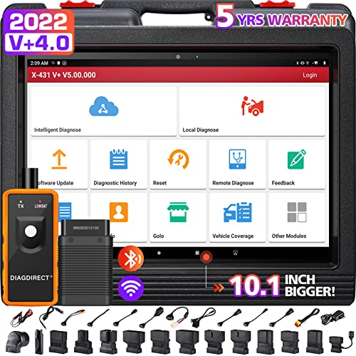 Launch X431 V (X431 PRO3) Full System Diagnostic OBD2 Android Wifi Tablet Scanpad with DBScarII Bluetooth Connector Module and Complete Accessories Set by Launch from Launch