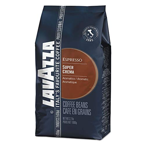 Super Crema Whole Bean Espresso Coffee, 2.2 lb. Bag, Vacuum-Packed from Lavazza