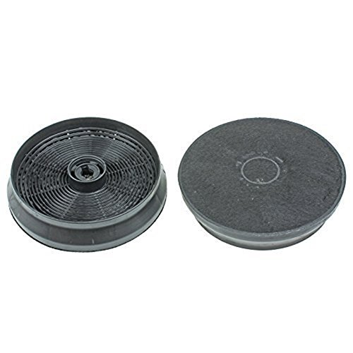 2 Pack Charcoal Cooker Hood Grease Filters for Indesit H361FBK H361FIX from Lazer Electrics