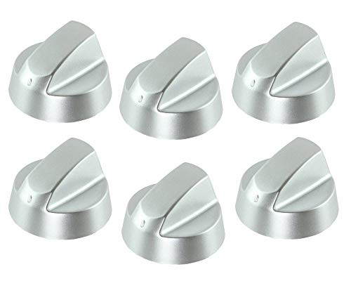 LAZER ELECTRICS Silver Grey Control Knobs/Dials for Baumatic Oven Cooker & Hob (Pack of 6) from LAZER ELECTRICS