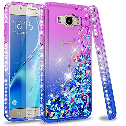 a5b8f7d8b5f LeY Galaxy J5 2016 Case with Tempered Glass Screen Protector [2 pack], Girl