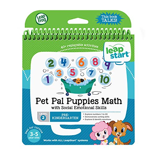 LeapFrog 21511 LeapStart Preschool Pet Pal Puppies Maths and Social Emotional Skills Activity Book: from LeapFrog