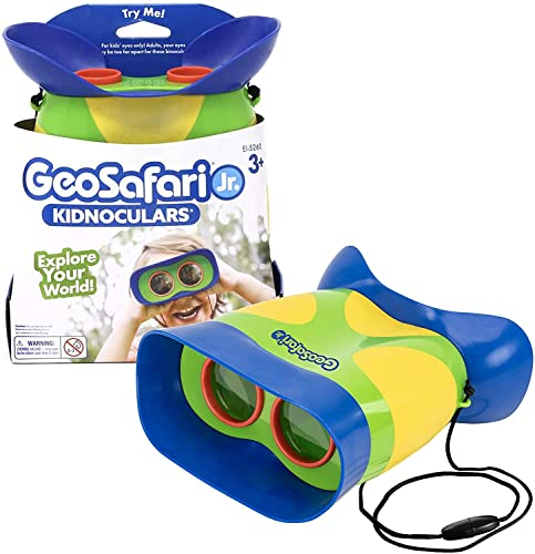 Learning Resources GeoSafari Jr. Kidnoculars - Compact Shock Proof First Binoculars for Kids from Learning Resources