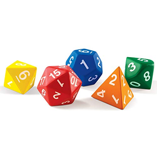 Learning Resources Jumbo Polyhedral Dice (Set of 5) from Learning Resources (UK Direct Account)