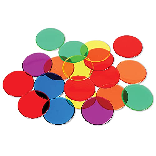 Learning Resources Transparent Counters (6 Colours) from Learning Resources