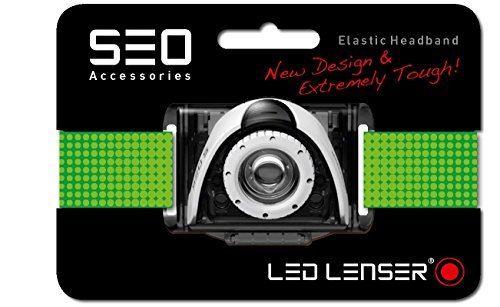 Ledlenser SEO Headband for B3, B5R, SEO3/5/7R, 0373 - Green, Hang Pack from Led Lenser