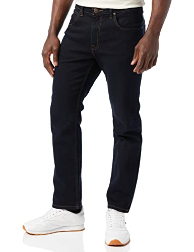 Lee Men's Brooklyn Straight Leg Jeans, Blue Black, W44/L34 from Lee