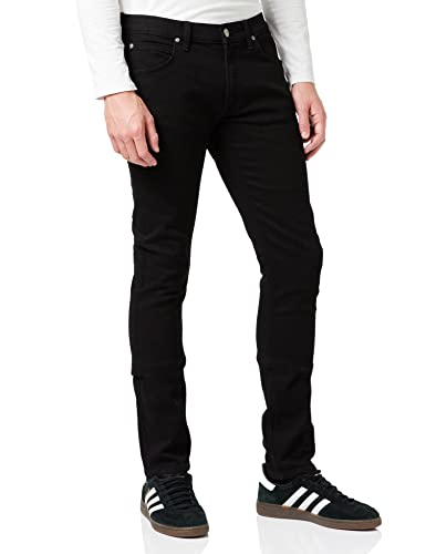 Lee Men's Luke Slim Tapered Jeans, Clean Black, W36/L34 from Lee