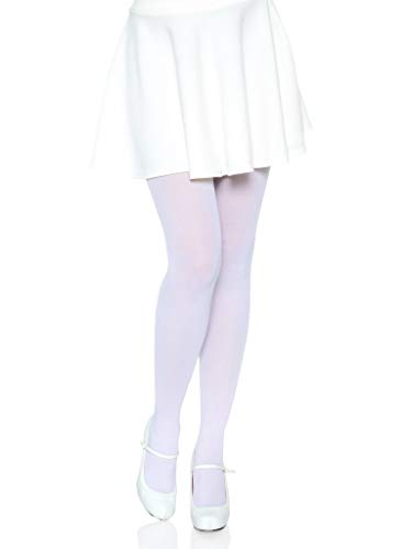 Leg Avenue Adult One Size White Nylon Tights from Leg Avenue