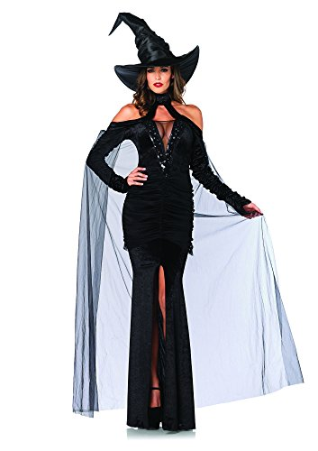 Leg Avenue Sultry Sorceress Costume (S, Black) from Leg Avenue