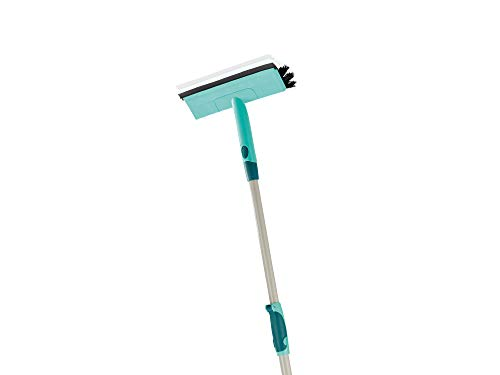 Leifheit Window Cleaner with Brush and Squeegee on Telescopic Handle, 110-190 cm from Leifheit
