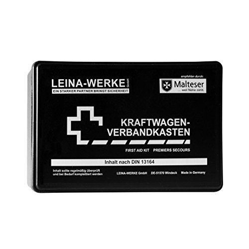 Leina 10002 Motor Vehicle First Aid Kit Standard, Black/White from Leina