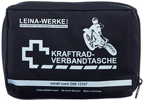 Leina 17010 Motorcycle First Aid Kit Type II without Velcro, Black/ White from Leina