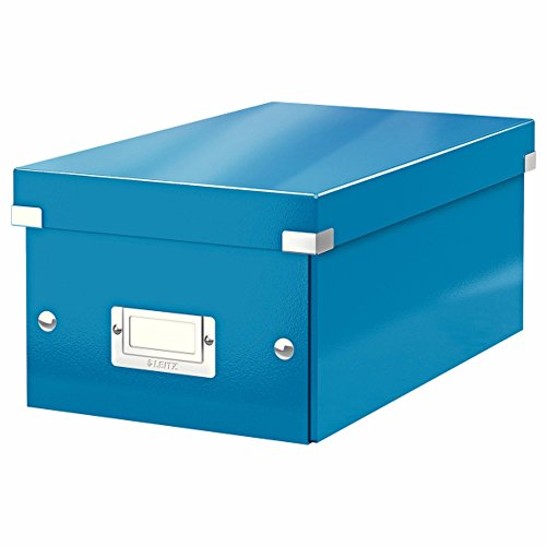 Leitz DVD Storage Box, Blue, Click and Store Range, 60420036 from Leitz