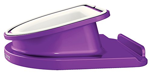 Leitz Rotating Desk Stand for iPad/tablet PC, Wow Range 62741062 - Purple from Leitz