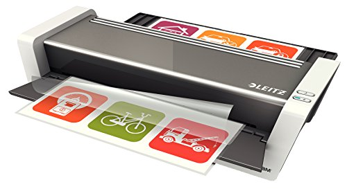 Leitz Touch 2 Laminator A3, Smart Sensor TechnologyIdeal for Offices and Schools, Glossy White/Anthracite, iLAM Range, 74745000 from Leitz