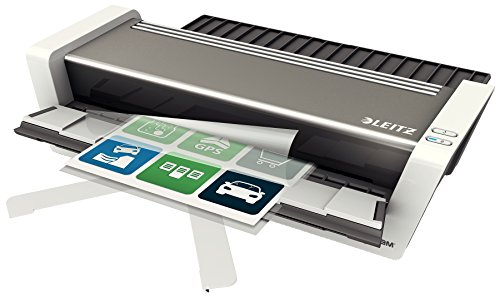 Leitz Touch Turbo 2 Laminator A3, Smart Sensor Technology, Ideal for Large Offices, Glossy White/Anthracite, iLAM Range, 75201000 from Leitz