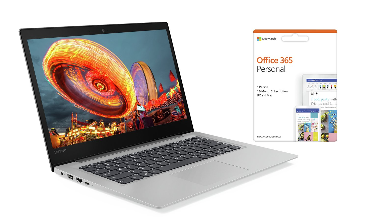 Lenovo IdeaPad S130 14 Inch Celeron 4GB 64GB Cloudbook -Grey from Lenovo