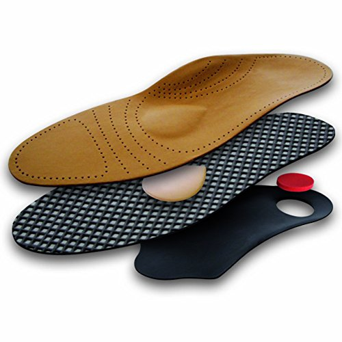 Lenzen Premium Shoe Insoles made of Genuine Leather, Orthopedic Footbed, Activated Carbon, Antibacterial, Breathable (40 EUR / 6 UK Men / 7 UK Women) from Lenzen