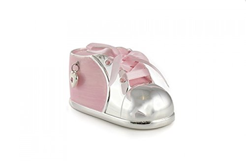 Money Box Baby shoe with satin ribbon - Pink from Leonardo