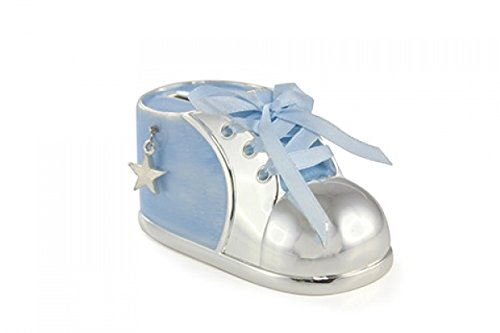 Silver Plated Baby Bootie Money Box from Leonardo
