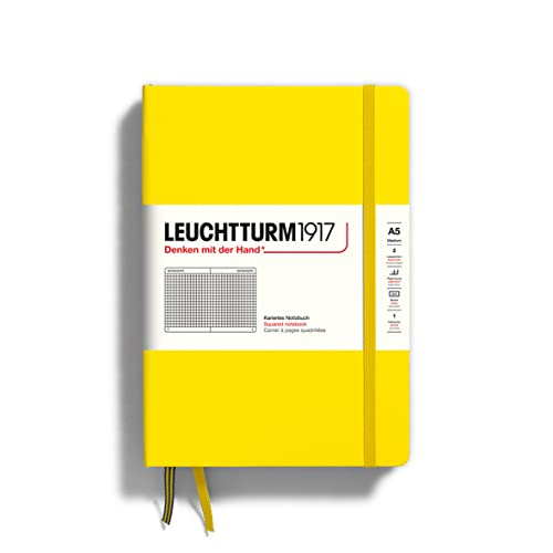 LEUCHTTURM1917 344799 Notebook Medium (A5), 249 numbered pages, squared, citron from Leuchtturm1917