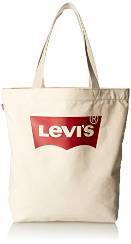 LEVIS FOOTWEAR AND ACCESSORIES Batwing Tote W Women's Tote, Beige (Ecru), 39x14x30 centimeters (W x H x L) from Levi's