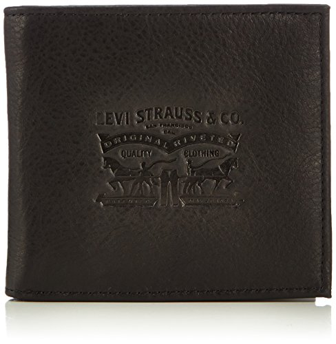 Levi's Men Clairview Bifold Coin Purses and Pouches 222539-4 Black from LEVIS FOOTWEAR AND ACCESSORIES