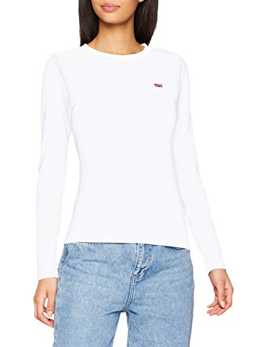 Levi's Women's Ls Baby Tee T-Shirt, (White + 0000), Small from Levi's