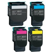 Compatible Multipack Lexmark C546 Printer Toner Cartridges (4 Pack) -RT-1B-C540H2KG/YG_11173 from Printerinks