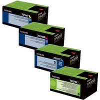 Original Multipack Lexmark CS410dn Printer Toner Cartridges (4 Pack) -CB1-70C2HK0/C0/M0/Y0_12914 from Lexmark