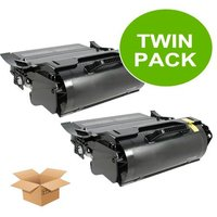 Compatible Multipack Lexmark T520sbe Printer Toner Cartridges (2 Pack) -RT-2P-12A6835_9228 from Printerinks