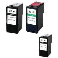 Compatible Multipack Lexmark X5400 Printer Ink Cartridges (3 Pack) -RI-2B-32/33_10133 from Printerinks