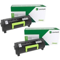 TWIN PACK : Lexmark 51B2X00 Original Black Extra High Capacity Toner Cartridge (2 Pack) from Lexmark