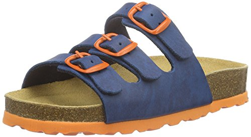 Lico Unisex Bioline Kids Low-Top Slippers, Blue Marine/Orange, 2.5 UK from Lico