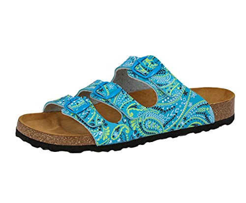 Lico Women's Bioline Lady Low-Top Slippers, Turquoise Tuerkis/Lemon, 3 UK from Lico