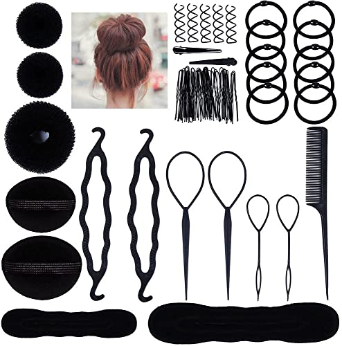 Lictin Hair Styling Set, Fashion Hair Design Styling Tools Accessories DIY Hair Accessories Hair Modelling Tool Kit Hairdress Kit Set Magic Simple Fast Spiral Hair Braid Hair Braiding Tool from Lictin